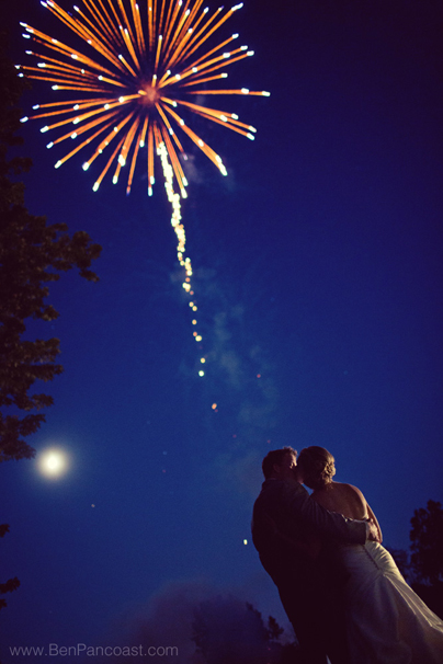 Wedding ideas like having fireworks at the reception make your day even more unique.