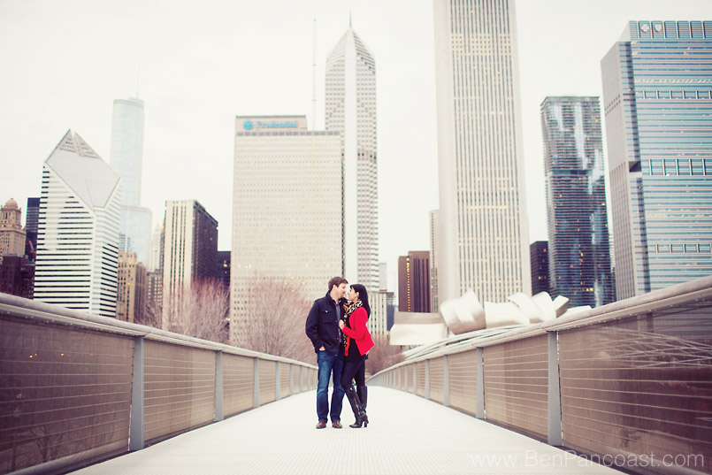 Chicago Engagement Photos Downtown