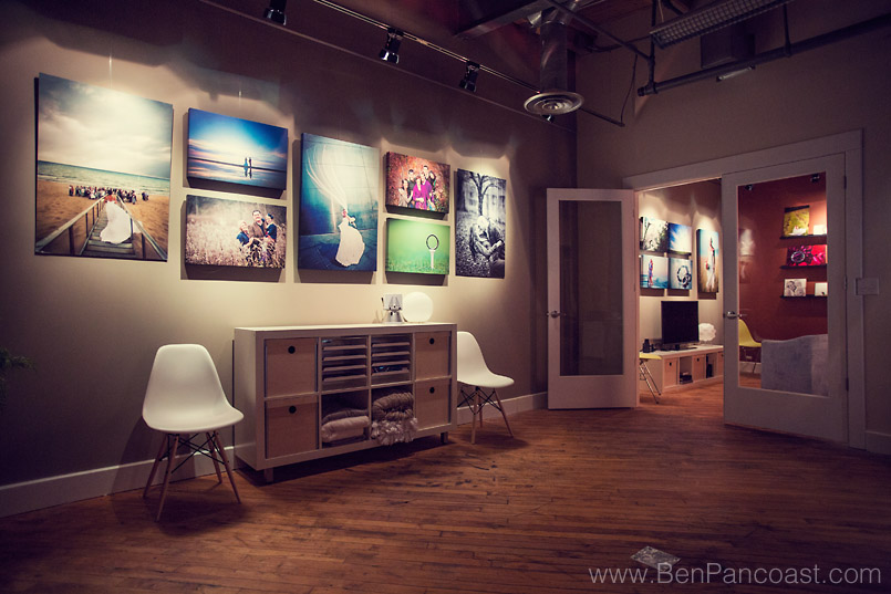 Pictures on the wall in Ben Pancoast Photography Studio