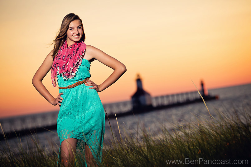 Senior Pictures at Tiscornia Beach