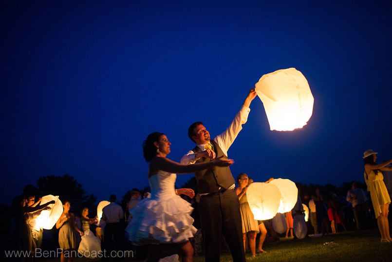 Paper Sky Lanterns at Your Wedding Reception