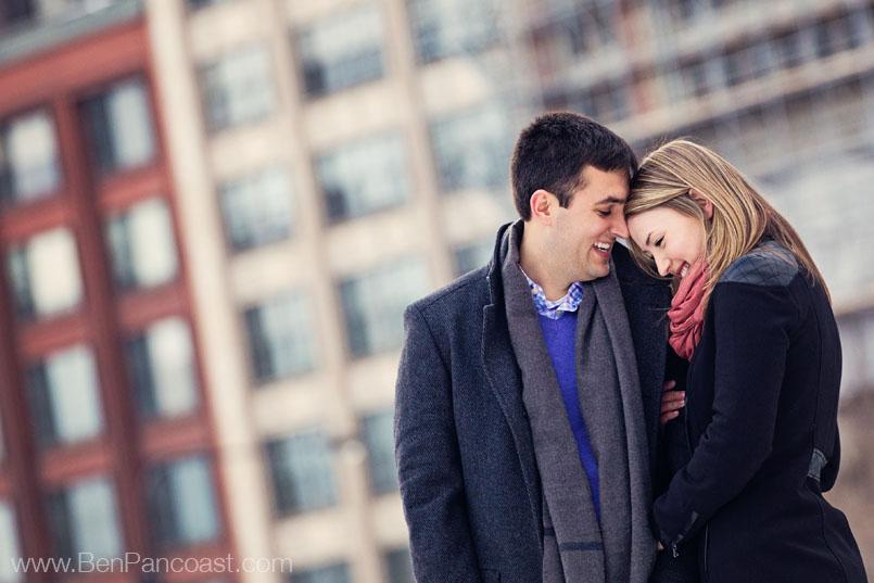 Winter Engagement photos in Millenium Park, Chicago IL