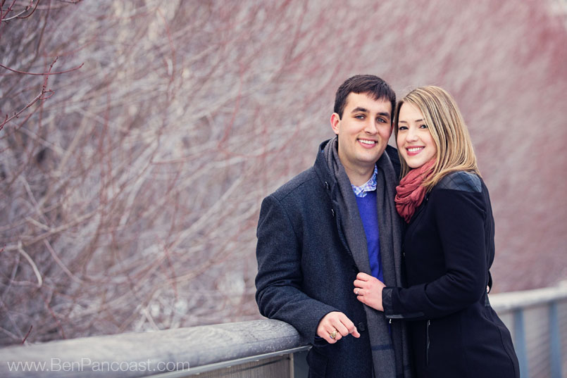 Winter Engagment Pictures in Chicago