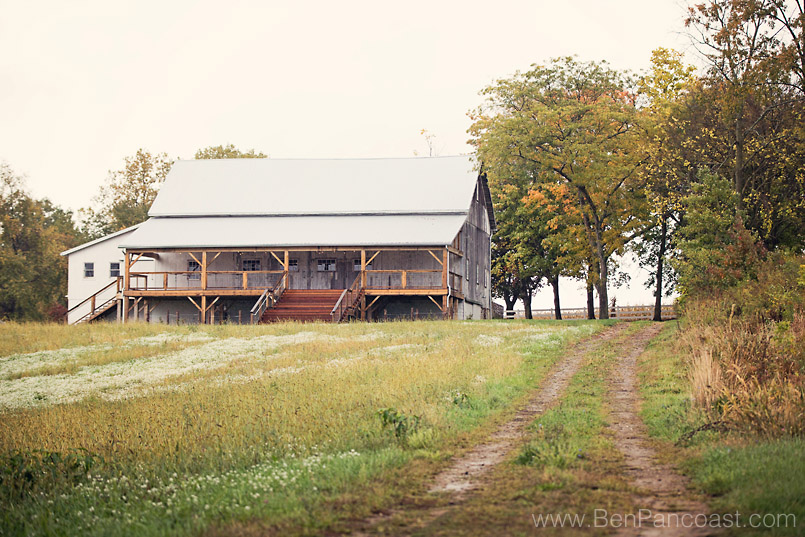 The barn at Hidden Vineyards wedding venue