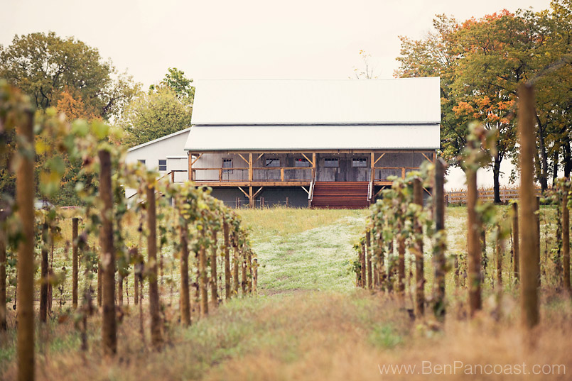Wedding Barn at Hidden Vineyard in Berrien Springs