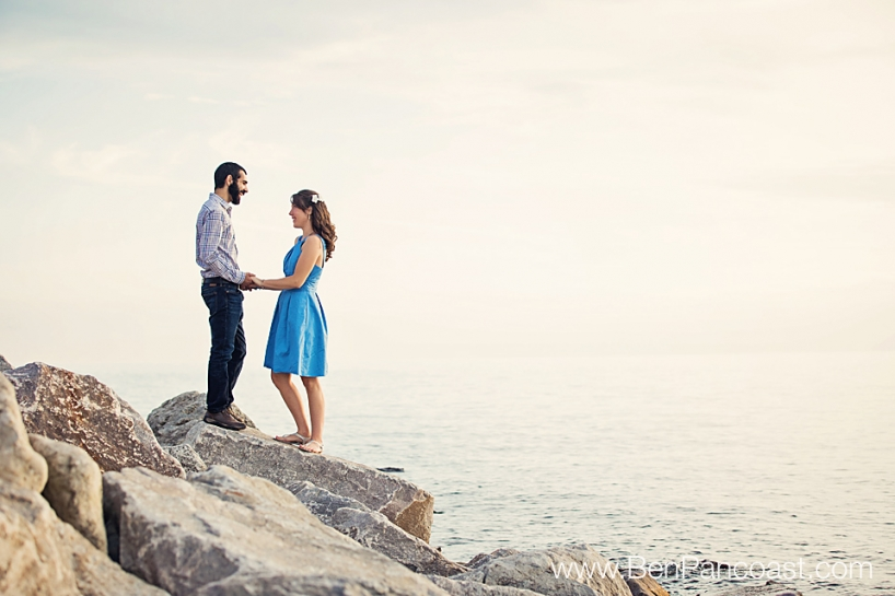 Lake Michigan, Engagement Photos